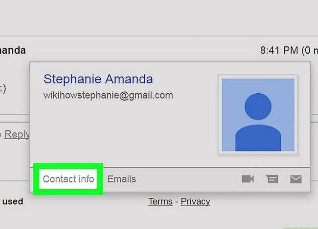 Prent getiteld Kontakte byvoeg in Gmail Stap 11