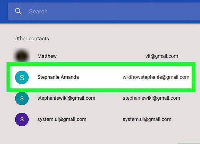 Prent getiteld Voeg kontakte by in Gmail Stap 20