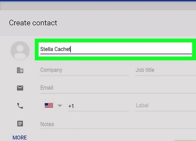 Prent getiteld Voeg kontakte by in Gmail Stap 5