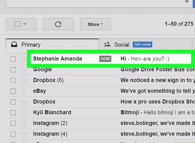 Prent getiteld Kontakte byvoeg in Gmail Stap 9