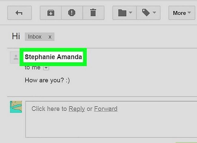 Prent getiteld Voeg kontakte by in Gmail Stap 10