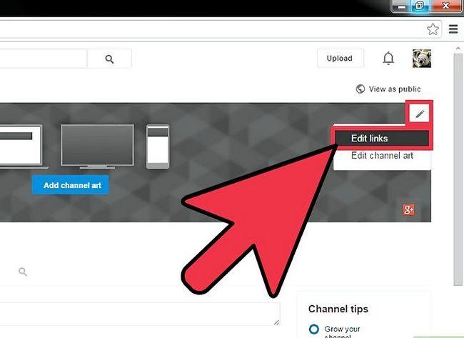 Prent getiteld Voeg skakels by jou YouTube-kanaalkuns Stap 8