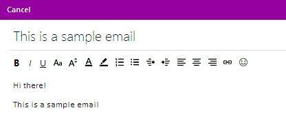 Prent getiteld Voeg hiperskakels by E-pos boodskappe in Hotmail Stap 7