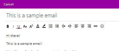 Prent getiteld Voeg hiperskakels by E-pos boodskappe in Hotmail Stap 9