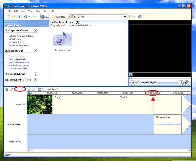 Prent getiteld Voeg agtergrondmusiek in Movie Maker Stap 10Bullet1