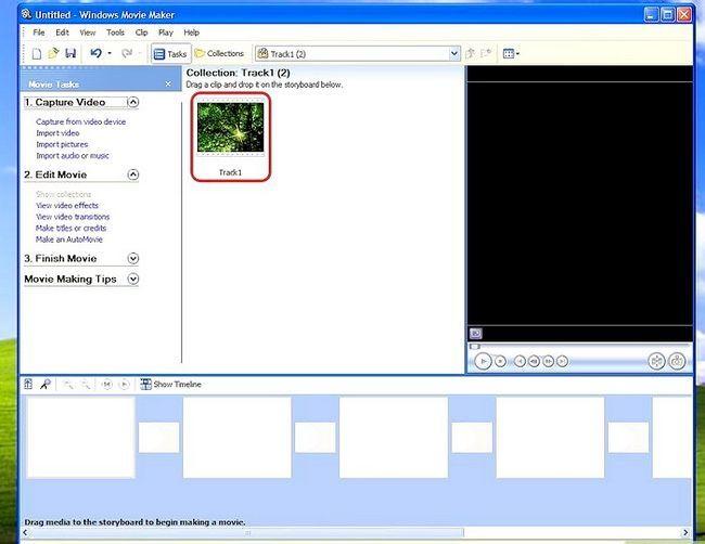 Prent getiteld Voeg agtergrond musiek in Movie Maker Stap 2Bullet1