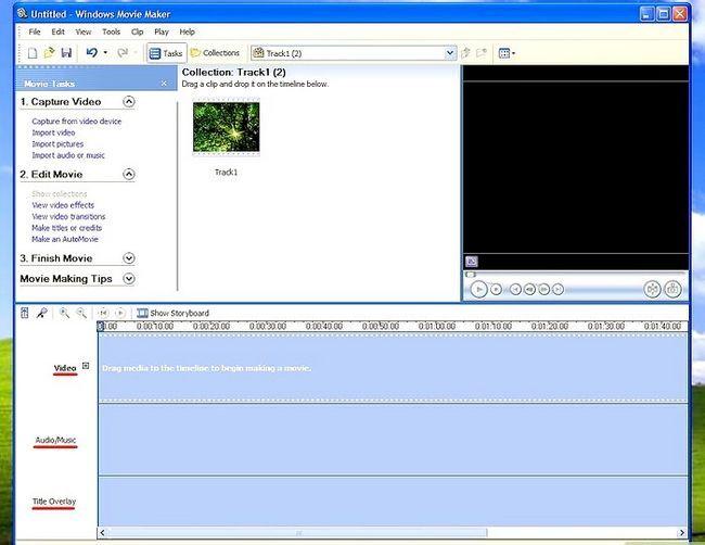 Prent getiteld Voeg agtergrond musiek in Movie Maker Stap 3Bullet1