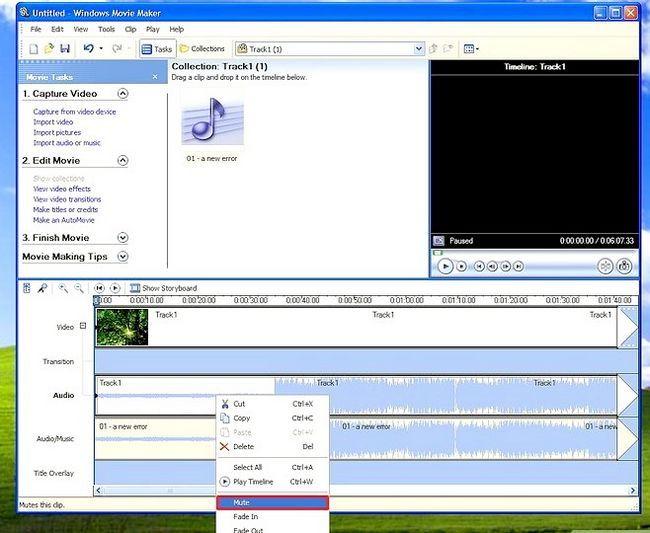 Prent getiteld Voeg agtergrond musiek in Movie Maker Stap 6Bullet1