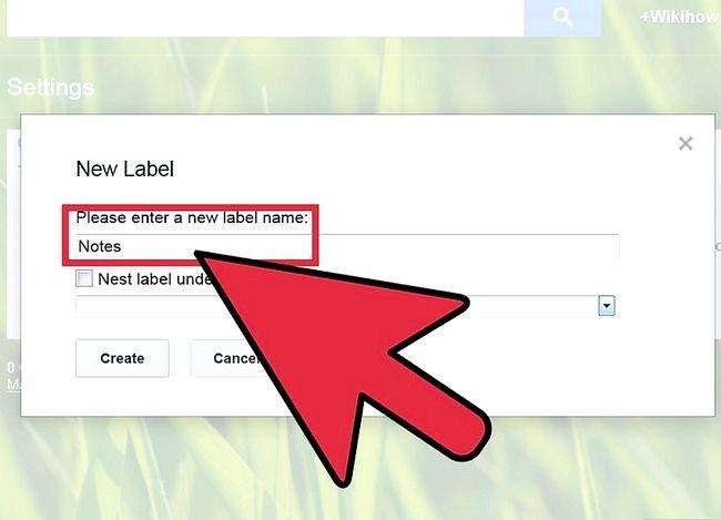 Prent getiteld Voeg notas in Gmail Stap 3