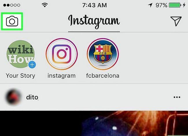 Prent getiteld Voeg Snapchat Snaps by Instagram Stories Stap 7