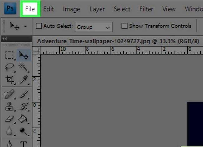 Prent getiteld Voeg `n agtergrond by op Photoshop CS3 Stap 2