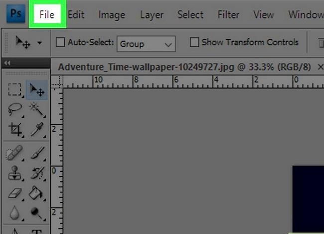 Prent getiteld Voeg `n agtergrond op Photoshop CS3 Stap 5