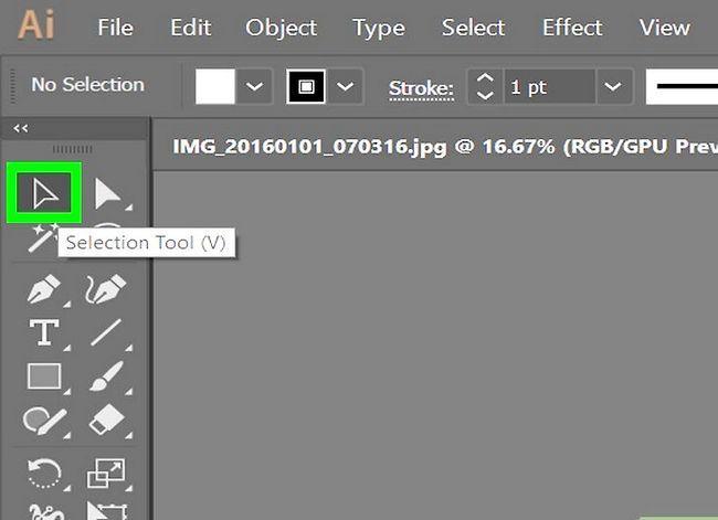 Prent getiteld Voeg `n hiperskakel in Illustrator Stap 2