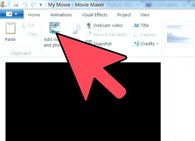 Prent getiteld Voeg `n Windows Movie Maker Video by YouTube Stap 1