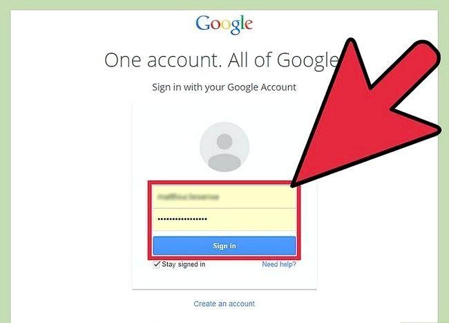 Prent getiteld Voeg `n rekening by jou Gmail Stap 1