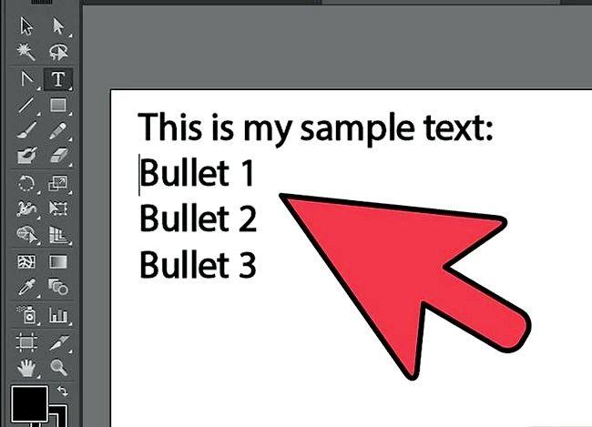 Prent getiteld Voeg Bullets by in Illustrator Stap 4