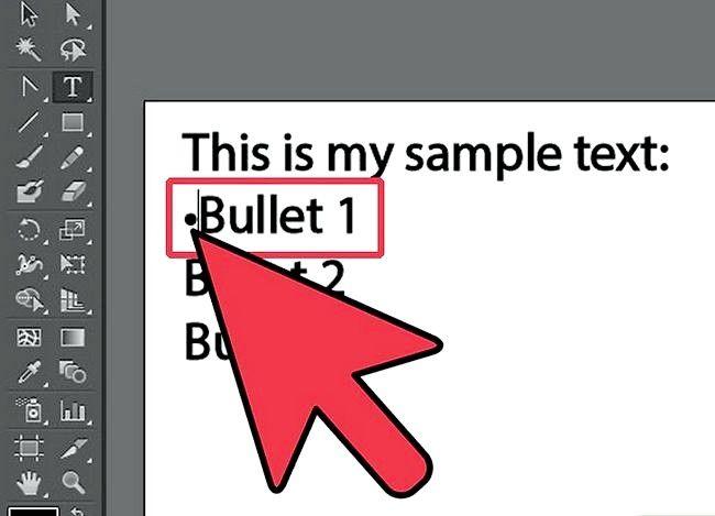 Prent getiteld Voeg Bullets by in Illustrator Stap 5