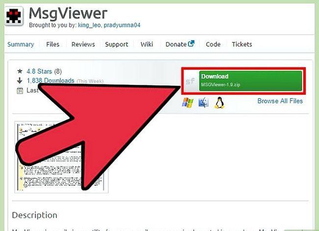 Prent getiteld Open MSG Files Stap 5