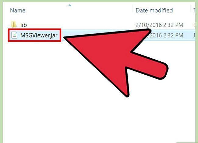 Prent getiteld Open MSG Files Stap 7