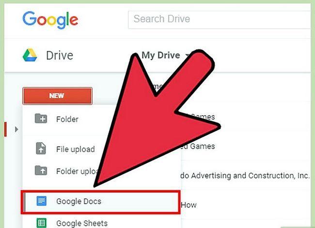 Prent getiteld Open Google Docs Stap 16