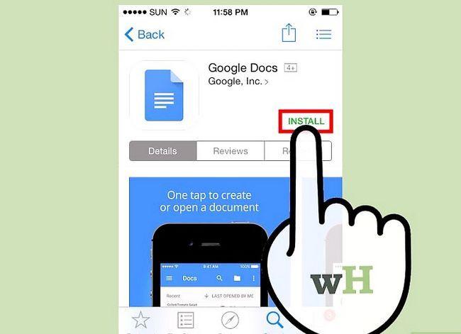 Prent getiteld Open Google Docs Stap 2