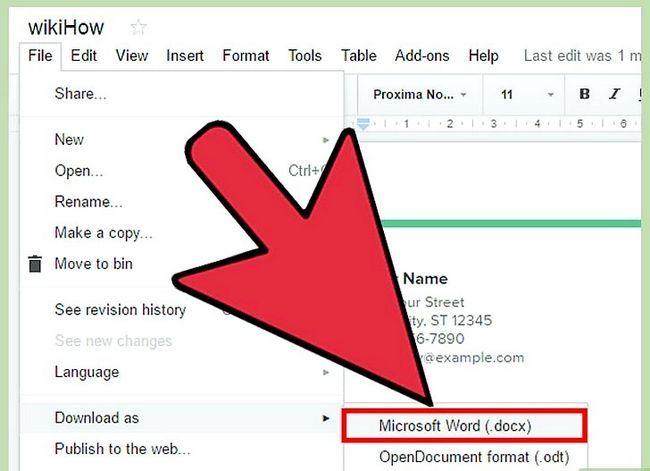 Prent getiteld Open Google Docs Stap 6