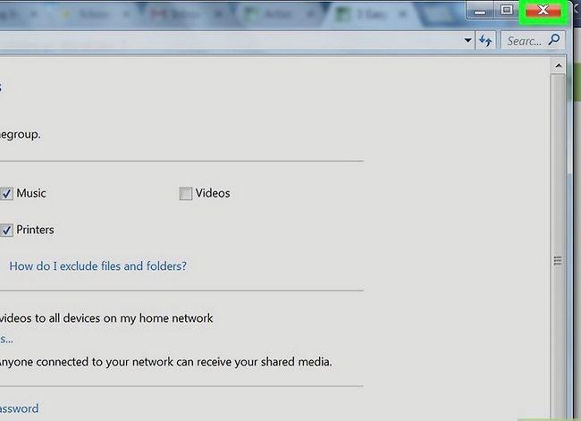 Prent titel Toegang gedeelde dopgehou in Windows 7 Stap 12