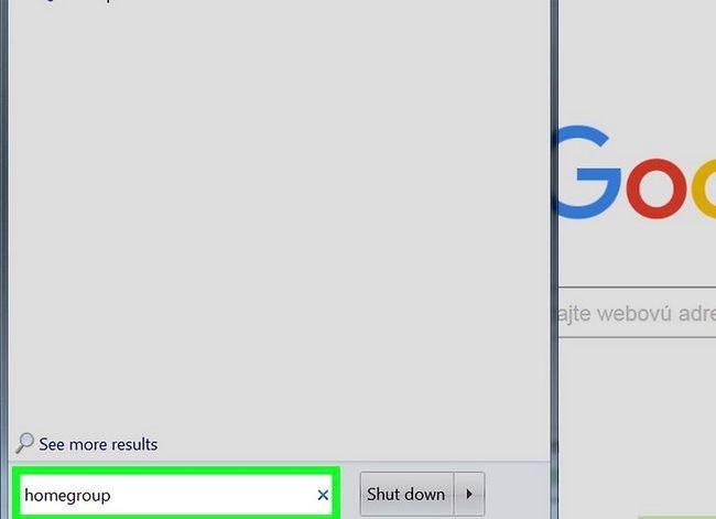 Prent titel Toegang gedeelde dopgehou in Windows 7 Stap 2