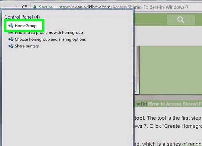 Prent titel Toegang gedeelde dopgehou in Windows 7 Stap 3