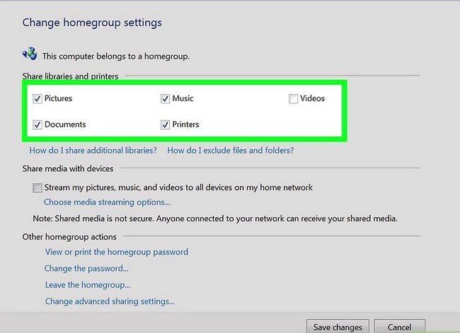Prent titel Toegang gedeelde dopgehou in Windows 7 Stap 4