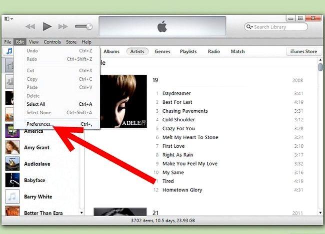 Prent titel Toegang Gedeelde biblioteke op iTunes Stap 2