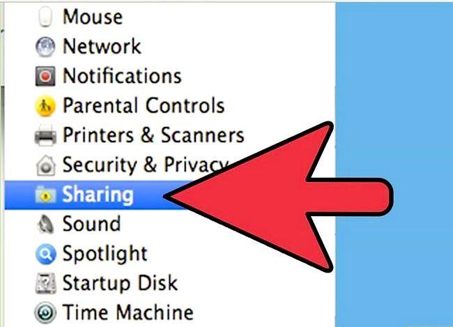 Prent titel Toegang Ander Rekenaars op Mac Stap 3