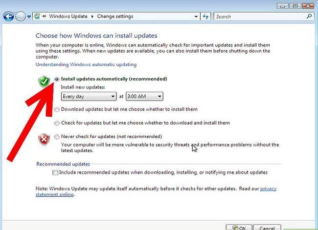 Prent getiteld Aktiveer Outomatiese opdaterings Stap 5Bullet1
