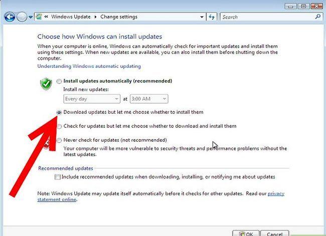 Prent getiteld Aktiveer Outomatiese opdaterings Stap 5Bullet2