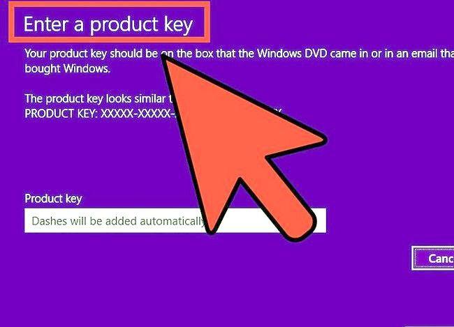 Prent getiteld Aktiveer Windows 8 Stap 3