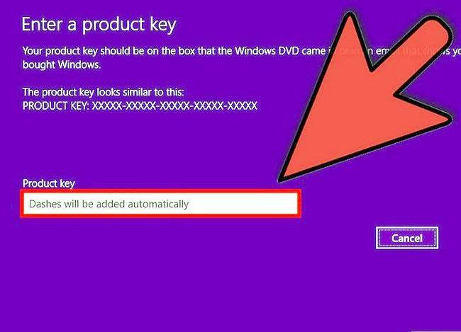 Prent getiteld Aktiveer Windows 8 Stap 4