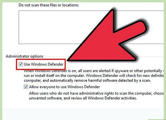 Prent getiteld Skakel Windows Defender Stap 13 aan