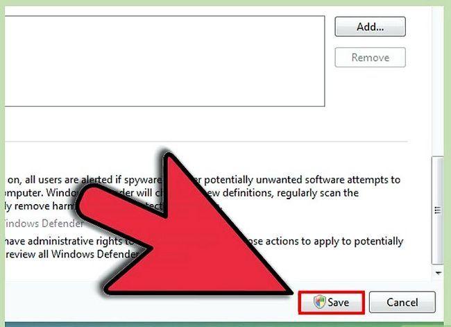 Prent getiteld Skakel Windows Defender Stap 14 aan