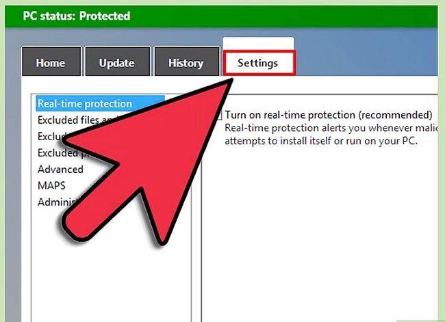Prent getiteld Skakel Windows Defender Stap 2 aan