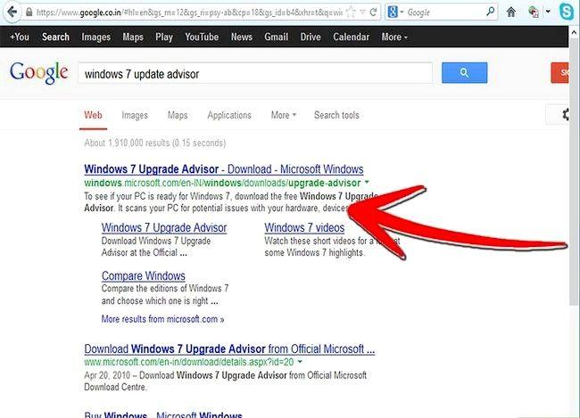 Beeld getiteld Upgrade van Windows Vista na Windows 7 Stap 1