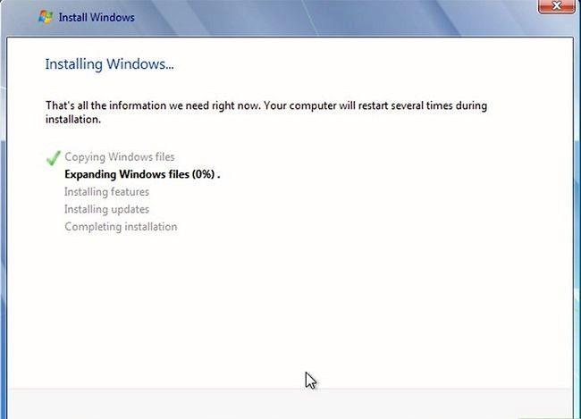 Prent getiteld Installeer Windows 7 Stap 7