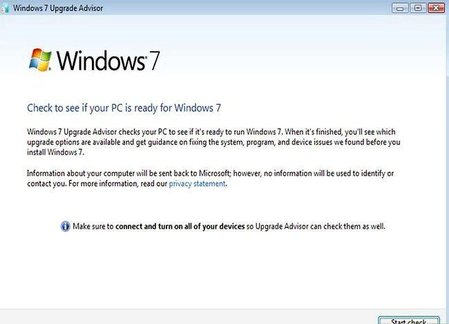 Beeld getiteld Upgrade van Windows Vista na Windows 7 Stap 3