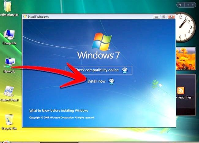 Beeld getiteld Upgrade van Windows Vista na Windows 7 Stap 6