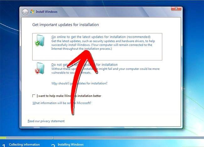 Beeld getiteld Upgrade van Windows Vista na Windows 7 Stap 7