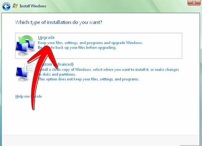 Prent getiteld Installeer Windows Vista Stap 6Bullet1