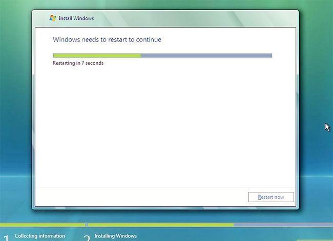 Prent getiteld Installeer Windows Vista Stap 7