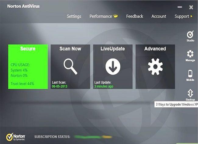 Prent getiteld Upgrade Windows XP na Vista Stap 3