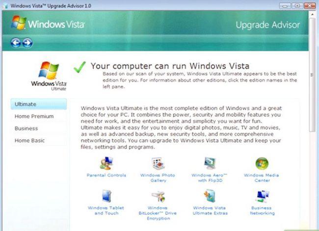 Prent getiteld Upgrade Windows XP na Vista Stap 5