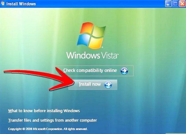 Prent titel Windows Vista Stap 3 installeer