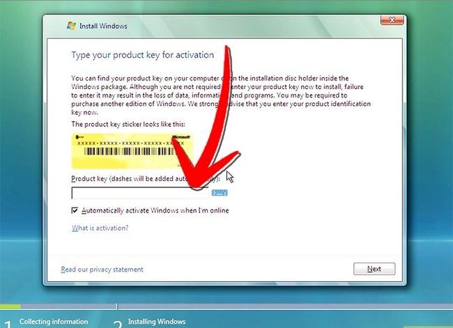 Prent titel Windows Vista Stap 4 installeer
